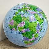 GonPi トイボール - 40cm 空気注入式 世界地図 ボール スクイッシー おもちゃ 早期教育 地理玩具 地図 バルーン ビーチ ボール おもちゃ 子供用 1個