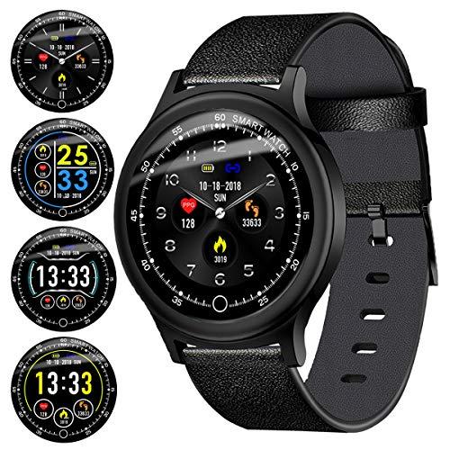 6a14616458 スマートウォッチ 2019最新 心拍計 血圧計 活動量計 IP68防水 歩数計 GPS