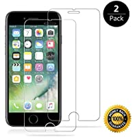 "SICAS iphone 8 Plus/7 Plus/6s Plus Tempered Glass Screen Protector. 9H hardness 3D Touch Compatible Best Glass for Your best phone ( 2 pack ) … (Glass 5.5"")"
