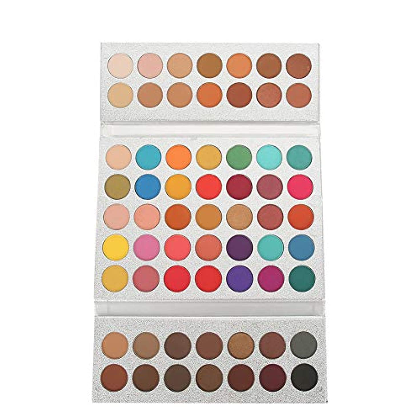 ピービッシュ貼り直すとても多くのアイシャドウパレット63色、美容真珠光沢マットアイ化粧品メイクアップパレット