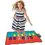 ミュージックマット 54インチミュージカルキーボードプレイマット16キー電池式折りたたみ式フロアキーボードピアノダンス活動マット付き調節可能なvolステップアンドプレイ楽器おもちゃ用幼児子供 キーボードプレイマット (色 : マルチカラー, サイズ : 53.5*33.5inches)