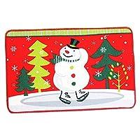 KESOTO 玄関マット ドアマット フロアマット ノンスリップ クリスマススタイル 約60x40cm 全6色 - スタイル2