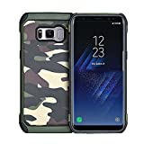 Galaxy S8 Galaxy S7 Edge Galaxy S6 Edge Galaxy S6 カモフラ 迷彩 柄 ケース 硬質樹脂 と ソフトTPU 二重構造 衝撃吸収 強力保護 ギャラクシー ジャケット 指紋防止 ギャラクシーS8ケース スマホ 携帯 カバー (Galaxy S6 Edge, グリーン)