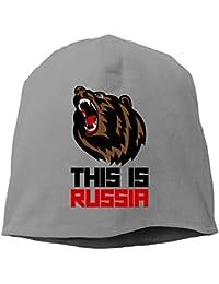 【Dera Princess】メンズ レディース ニット帽 This Is Russiaロゴ コットン ニットキャップ 帽子 オールシーズン 被れる