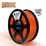 3D HERO PETG 3Dプリンターフィラメント 1.75 mm 1kg スプール (2.2ポンド) 寸法精度 +/- 0.02 mm 3Dプリンターと3Dペンと互換性あり 1.75mm US-HO-PETG-Orange