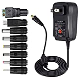 [アップグレード版] SoulBay 30WユニバーサルAC / DCアダプタースイッチング電源(8つの選択可能なアダプターのヒントとマイクロUSBプ..