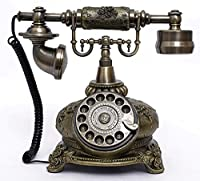 アンティーク電話機 108BS ヨーロッパ風 装飾電話機 回転ダイヤル式 骨董品 クラシック レトロ調