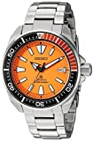 セイコーMen 's Prospex Samurai自動オレンジダイヤルステンレススチールDive Watch–Model : srpc07