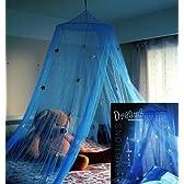 星のお姫様 天蓋カーテン モスキートカーテン 蚊帳 お星様 デザイン ブルー