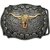 Long Horns Belt Buckle Golden Texas Buckles