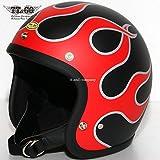 TT&CO. スーパーマグナム W.G. ファイヤー スモールジェットヘルメット SG/DOT規格 マットブラック