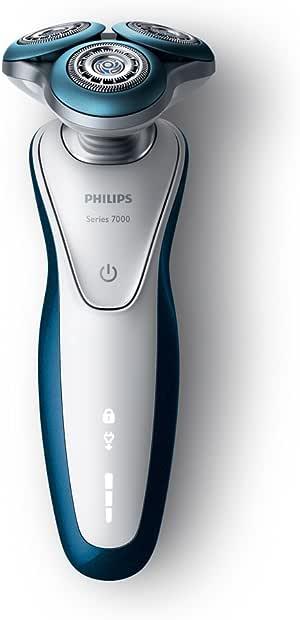 フィリップス 7000シリーズ メンズ 電気シェーバー 72枚刃 回転式 お風呂剃り & 丸洗い可 トリマー・洗浄充電器付 S7520/26