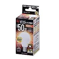 アイリスオーヤマ LED電球 口金直径17mm 50W形相当 電球色 広配光タイプ 密閉形器具対応 LDA6L-G-E17-5T2