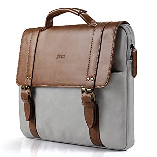 iDOO Laptop Bag Briefcase With Elegant Business Casual Style For 13-13.3 Inch Macbook, Laptop Messenger Case Cover,Brown (B01MZYNVEH) | Amazon price tracker / tracking, Amazon price history charts, Amazon price watches, Amazon price drop alerts