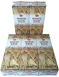 HEM ホワイトセージ香 スティック 5BOX(30箱)/HEM WHITE SAGE/ インド香 / 送料無料 [並行輸入品]