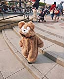 Ruibaolai ベビー&キッズ用 カバーオール 足つき ロンパース 着ぐるみ キッズコスチューム 子供 男の子 女の子 パジャマ 防寒着 スウェット ファション (90, ブラウン)