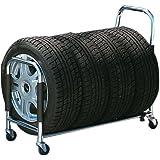 BONFORM ( ボンフォーム ) タイヤラック 伸縮自在 4本用 タイヤカバー付き 7250-40SI