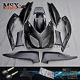 MSX-moto 適応ヤマハ Yamaha TMAX500 T-MAX500 TMAX 530 2001 2002 2003 2004 2005 2006 2007 TMAX 530 01 02 03 04 05 06 07年 外装パーツセット ABS射出成型完全なオートバイ車体 黒/ブラックのボディ