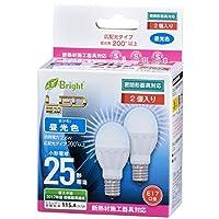 OHM LED電球 小形 25形相当 E17 昼光色 2個入 LDA3D-G-E17IH212P