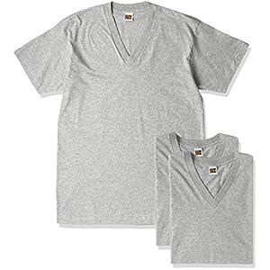 (グンゼ) GUNZE インナーシャツ G.T.HAWKIN VネックTシャツ 3枚組 H15153 グレー杢 L