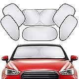 【6枚セット】車用サンシェード 遮光サンシェード カーシェード PEYOU 車窓日よけ シェード 遮光率99%&UVカット 収納袋&吸盤付き 日よけ用品 車中泊・アウトドアに最適