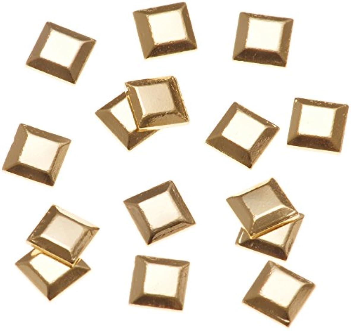 レイ疎外する接触リトルプリティー ネイルアートパーツ スタッズスクエア ゴールド 50個