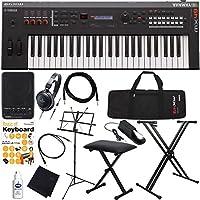 YAMAHA シンセサイザー 初心者 入門 軽量コンパクトなボディに高品位な音源を搭載した49鍵盤モデル すぐに始められる完璧13点セット MX49/BK(ブラック)