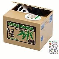 いたずらパンダ貯金箱 かわいい小さなパンダが入った貯金箱 自動パンダコイン貯蔵貯蔵貯金箱 全年齢のお子様に最適 どんな子供にも最適 (パンダバージョン)