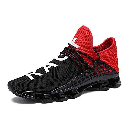 (ダント) Dannto ランニングシューズ ジョギング クッション性 メンズ レディース カジュアル 運動靴 通気性 ファッション アウトドア ウォーキング スニーカー 超軽量 日常着用(レッド,26.5)