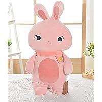 HuaQingPiJu-JP キッズクリエイティブ耐久性のあるおもちゃソフトぬいぐるみウサギ動物玩具人形ピローベビードールおもちゃミニドール女の子と少年のための子供たちのためのホットギフト(ピンク)