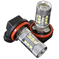 fcl 驚愕の明るさ!LEDフォグランプ HB4 80WのハイパワーLEDバルブ ホワイト 16連 2個セット