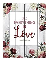 """at001Do Everything In Love I Corinthians–16: 1412"""" x 15""""パレットSign。"""