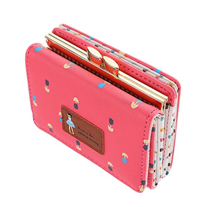 Fenteer 女性 財布 ショート ハンドバッグ 二つ折り  ウォレット  クラッチ カード ホルダー  プレゼント 全6色