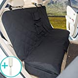 Jaybally Dog Seat Cover Car Seat Cover for Pets & Baby - Waterproof, Heavy-Duty, Soft Touch and Nonslip Pets & Children Seat Cover with Storage Pockets for Cars, Trucks & SUVs (Black)