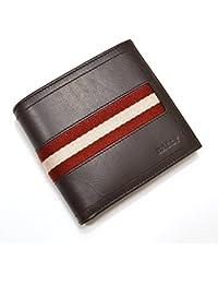 バリー(BALLY) 二つ折り財布 yby012(TYE 271:チョコブラウン×レッド×ホワイト)メンズ