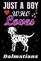 Just a Boy who loves Dalmatians: Dalmatians  Lover notebook or dairy, Perfect Dalmatians  lovers Notebook gift for Boy