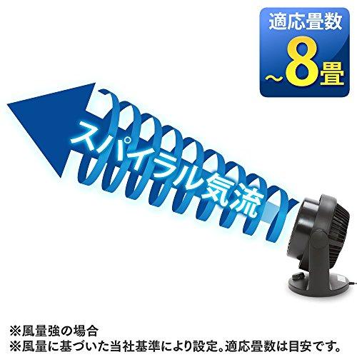 アイリスオーヤマ静音サーキュレーター首振りENC-15K-B~8畳ブラック