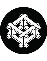 家紋シール 唐井桁紋 布タイプ 直径40mm 6枚セット NS4-2410