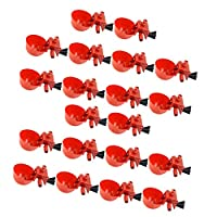 Almencla 20個セット ウォーターボトル 家禽用 鶏 給水器 ウォータータンク 養鶏用品