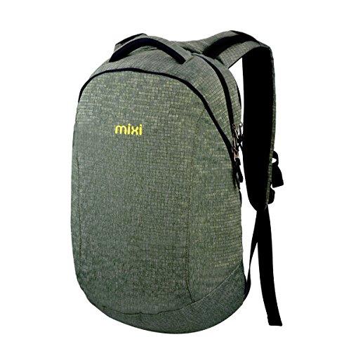 MIXI(ミシ)双肩バッグ スポーツバッグ PCバッグ 中学生 高校生 通学 旅行 男女兼用 (グリーン)