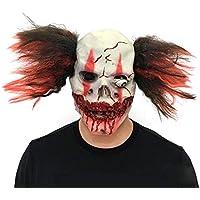 クラウンマスク 赤い髪 ピエロ ドッキリグッズ 小道具 新年会 忘年会 仮装マスク お祭り 宴会 学園祭 文化祭 怖い