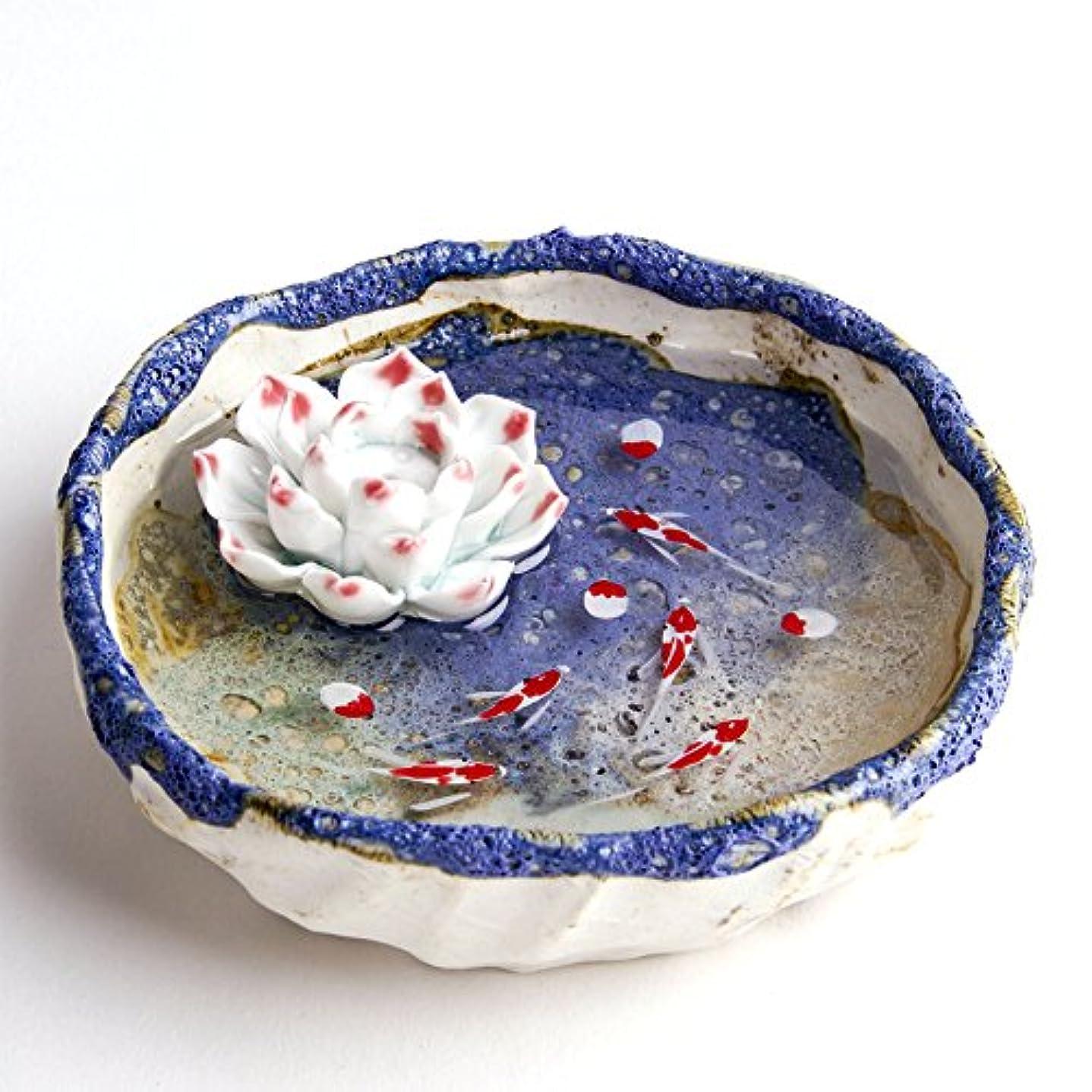クレーターストレッチ儀式お香立て お香たて 香の器 お香を焚いて 香皿,陶磁器、 ブルー