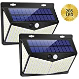 Solar Lights Outdoor, Waterproof Night Lights Wireless Motion Sensor LED Light 3 Modes 270° Wide Angle Lamp for Deck Fence Post Door Wall Yard and Garage, Yard, Garage, Deck, Pathway, Porch (2 PACK) (2 PACK)