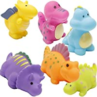 Bathtub Toys Dinosaur Baby Bath Toys Christmas Kids Fun Squirt Toys Floating Bathroom Toys Assorted Colors 6PCS [並行輸入品]