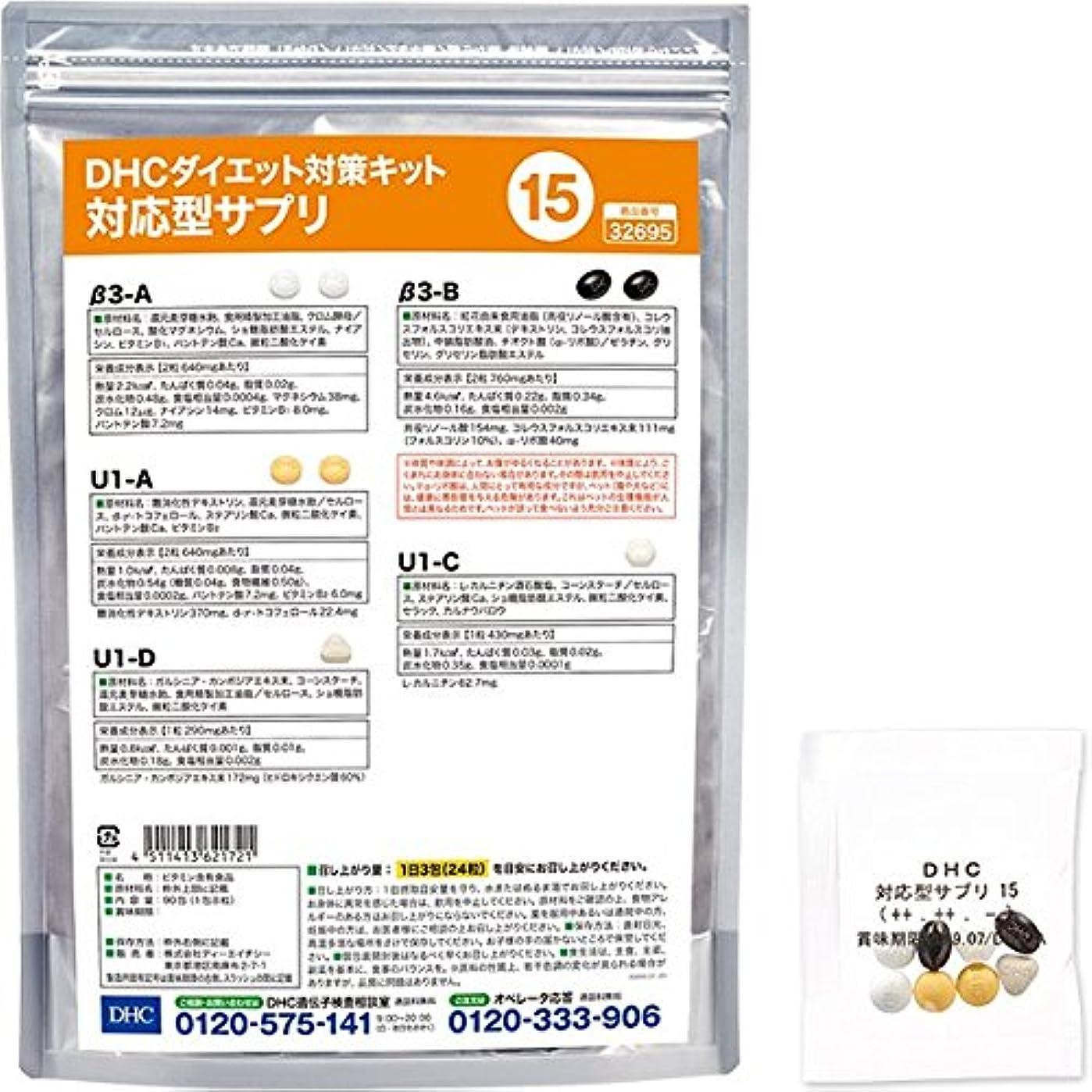 故意に幻滅有彩色のDHCダイエット対策キット対応型サプリ15