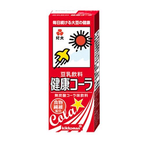 紀文 豆乳飲料 健康コーラ 200ml紙パックx18本