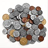 Learning Resources 96 Coins in a Bag 【英語玩具 お金 ドル】 アメリカ通貨 コインセット(96枚入り) 正規品