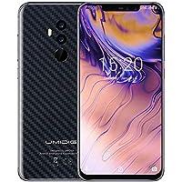 UMIDIGI Z2 SE SIMフリースマートフォン 6.2インチ FHD+大画面 2246x1080 19:9ディスプレイ Android 8.1 18W超快速充電 4GB RAM + 64GB ROM Helio P23オクタコア 16MP + 8MPクアッドカメラ デュアルSIM 4G LTE 顔認証 指紋認証 二年保証 (カーボンブラック)