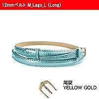 【腕時計交換用ベルト】12mmベルト 本革 ロング Long レディース Faceaward フェイスアワード (M_Lago_L (Long) 尾錠_Yellow Gold)