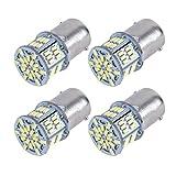 氏の車 3014SMD P21W 1156 S25 BA15S LEDバルブ LEDライト 車用 LEDランプ 54連SMD シングル 汎用 変換 超高輝度  12V 4個セット(白)